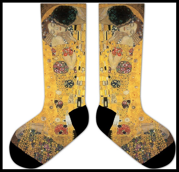 s69 - Gustav KLIMT The KISS ART Socks - art history painting artist painter nouveau art socks 0PAvJ