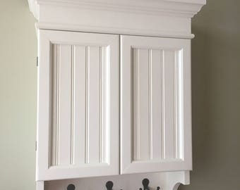 White Cabinet, Bathroom Cabinet, Kitchen Cabinet, Hanging Wall Cabinet,  Decorative Wall Cabinet