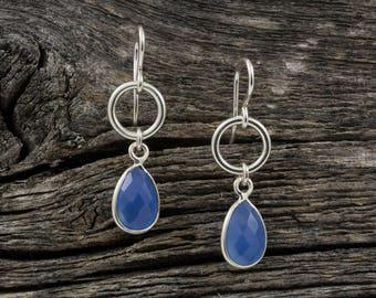 Blue Topaz Spirit Stone Earrings