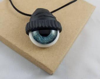 Glass Third Eye Beanie Pendant