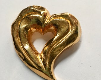 love Christian Lacroix Vintage heart Brooch