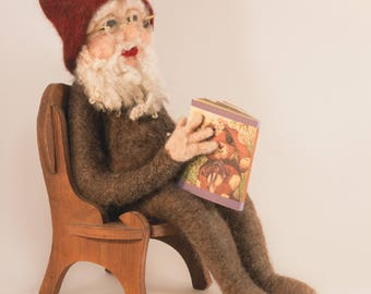 Needle felted Tomten, Nisse, Gnome, Santa