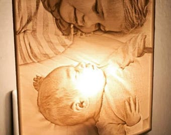 Custom 3D printed nightlight from your photo