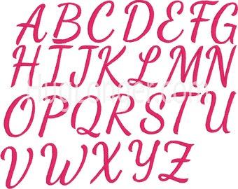 Dancing Font Script HL2169 embroidery file PLUS BX format!