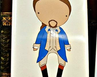 Alexander Hamilton signature  original art magnet