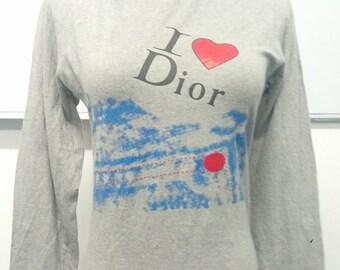 CHRISTIAN DIOR Longsleeve shirt / I Love Dior Paris