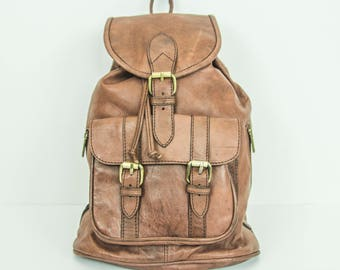 Brown Leather Rucksack | Premium Soft Cowhide