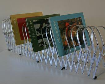 Vintage Accordion File Holder, Commercial Office , Storage, Organizer, 24 Slots