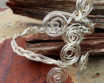Braided Wire Wrapped Adjustable Bracelet