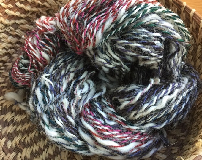 Insouciant Studios Hand Spun Wool Silk Yarn Calico
