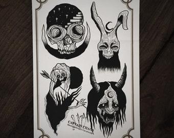 LIMITED Blood Soul - Tattoo print 50/50 signed