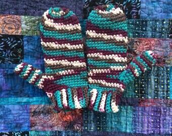 Crochet adult mittens