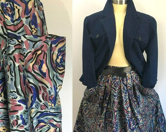 High Waisted Full Skirt with Big Pockets