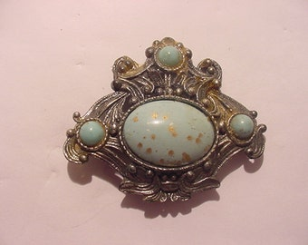 Vintage Faux Turquoise Brooch  12 - 9