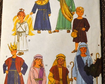 Sewing Pattern Butterick 6505 Christmas Bible Costumes Children's Sizes  Uncut Complete FF