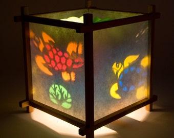 Spinning lamp etsy turtle harmony lantern aloadofball Choice Image