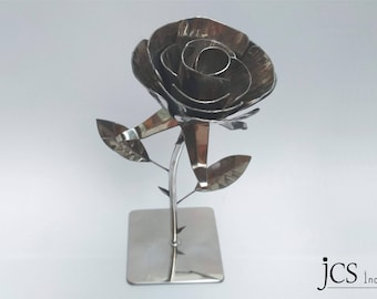 Rose with steel thorns. Steelrose. Rose.