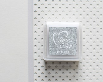 Silver ink pad, silver stamp pad, metallic ink pad, bronze ink pad, gold stamp pad, silver stamp, glitter stamp pad, metallic stamp pad