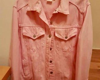 Rare Levi salmon pink vintage denim jacket