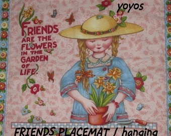 PLACEMATS, FRIENDS, Mary ENGELBREIT, Panel, Print, Set of Two, Home Décor, Kitchen Décor, Birthday, Mothers Day, Hostess Gift