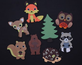 Forest Animal Magnet Set