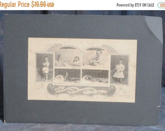 BTS 1901 - 1902 Malnourished baby Photograph composite 8 x 13.5 inches