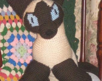 Bastet the Siamese Cat pattern