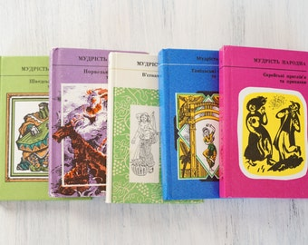 Set of 5 pocket books of proverbs Vintage Folk wisdom Wise sayings