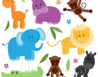 Zoo Animals Photoshop Brushes, Jungle Safari Animals Photoshop Brush - Commercial and Personal
