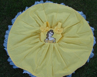 custom boutique twirl dress made with disney princess belle fabric 2-6