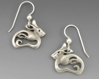 Pewter Arctic Hare Spirit Earrings