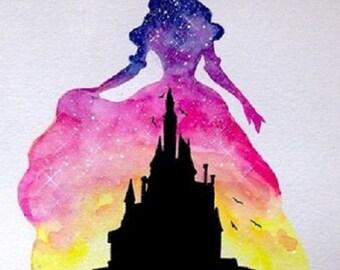 Princess and the Disney castle 5D DIY Diamond Picture