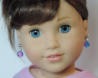 Galaxy Earrings for American Girl Doll Luciana Vega GOTY 2018 and other 18 inch dolls