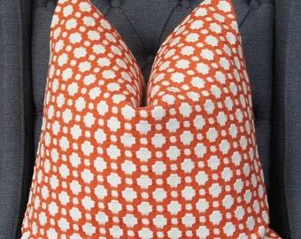 Designer Pillow Cover, Decorative Pillow, Throw Pillow, Toss Pillow,  Spark Orange, Home Furnishing, Home Decor