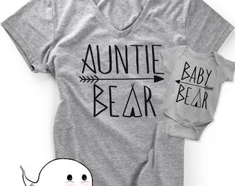 Nephew easter etsy gift for aunt matching auntie bear nephew or niece baby shirts tees t shirt christmas negle Choice Image