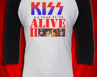 Detroit Rock City Alive II 1977 Tour Concert Jersey FREE SHIPPING Heavy Metal