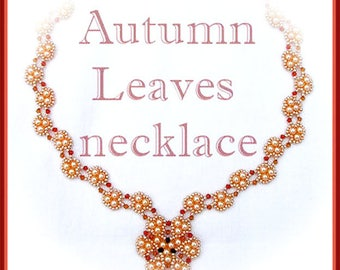 Beading Tutorial - Autumn Leaves necklace - Triangle Weave