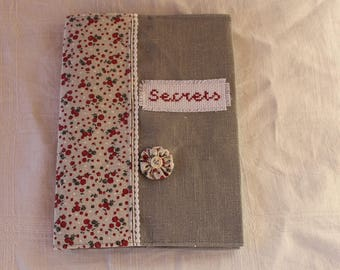 linen notebook cover and flower print