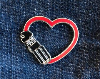Dark Love enamel pin