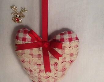 Hanging heart ornament
