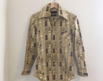 vintage mens shirt, vintage dress shirt, vintage button up