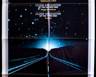 Close Encounters of the Third Kind ~ 1977 U.S. 1 Sht. MP in Very Fine Cond.! Spielberg Sci-Fi Classic!