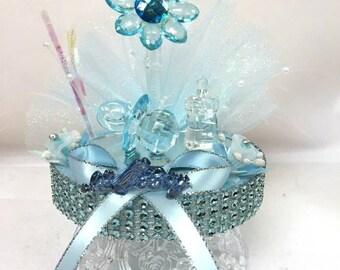 Baby Acrylic Flower Cake Topper Centerpiece Keepsake