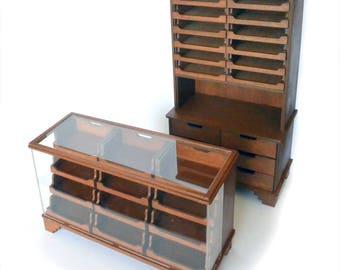 Haberdashery counter kit 1:12 shop counter, dollhouse miniature