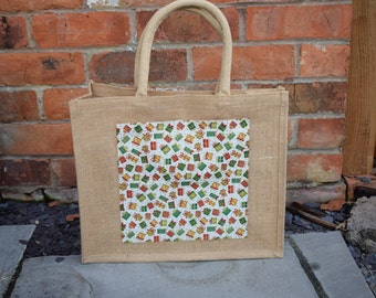 Present Boxes Jute Bag, Hessian Bag, Market Bag, Gift Bag, Jute Bag, Shopping Bag, Hamper Bag, Fabric Bag, Bag, Present Bag