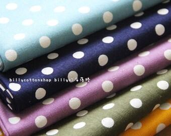 w470_55 - polka dots fabrics - cotton linen - in Half Yard ( 10 color to choose ) dots 1 cm