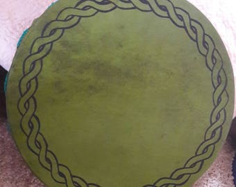 Frame drum in green