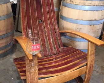 Wine Barrel Adirondack Chairs (French Oak )