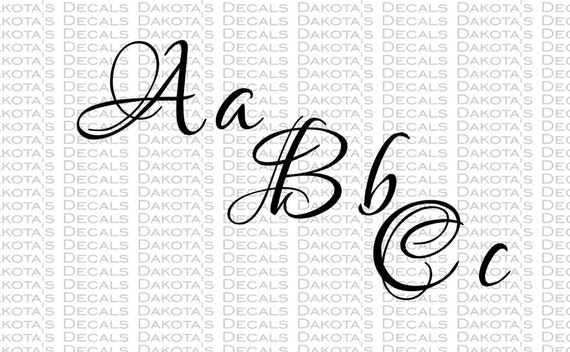 Fancy Font SVG for Download 94 characters Letters