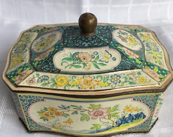 Vintage Decorative Tin Box, Made in Holland